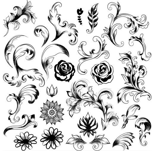 Ornate Floral Elements (Set 9) design vectors
