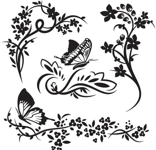Ornate Floral Elements vector