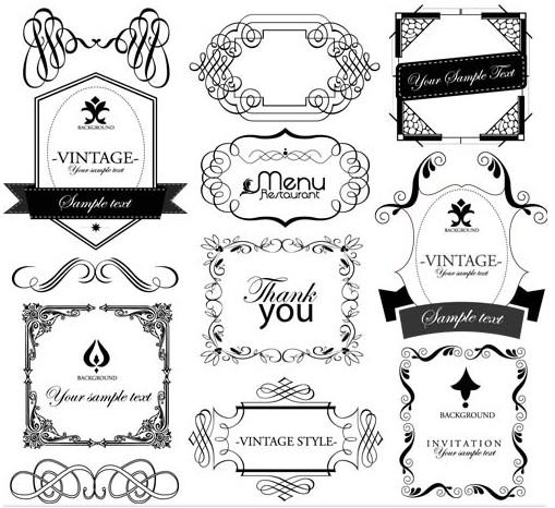 Ornate Vintage Labels vector