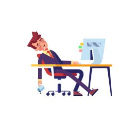 Overtime day and night people vector