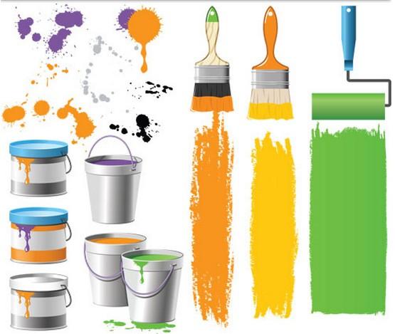 Painter Accessories vectors