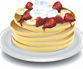 Pancake delicious food vector material 06