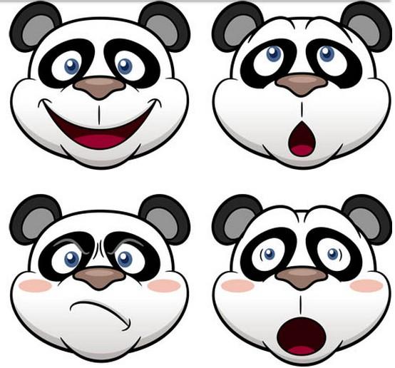 Pandas graphic vectors