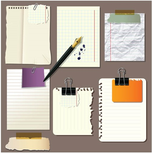 Paper Notes graphic vector