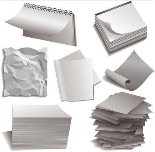 Paper Objects vectors