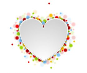 Paper heart with colored dot vector