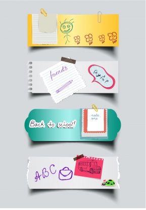 Paper sticker note Free vector