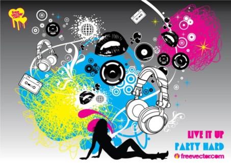 Party Flyer Graphics vectors graphics