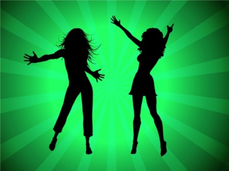 Party Girls Silhouettes design vectors