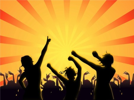 Party People Silhouettes vectors material