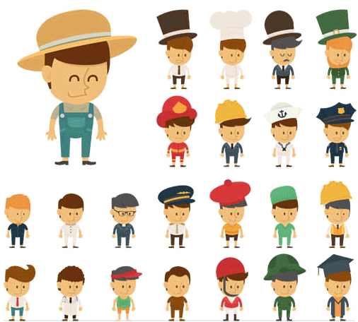 People Different Professions creative vector