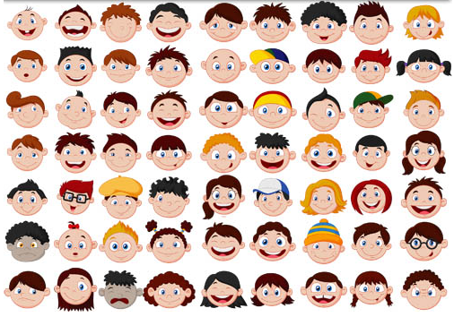 People Funny Faces vector