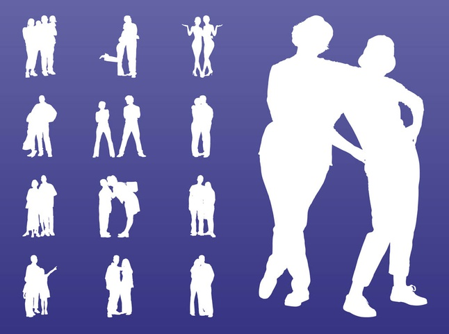 Traveling People Silhouettes Vector Art Graphics: People In Groups Silhouettes Art Vectors Graphic Free Download