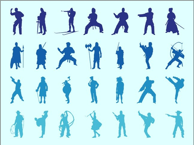 Traveling People Silhouettes Vector Art Graphics: People Silhouettes Vector Graphics Free Download