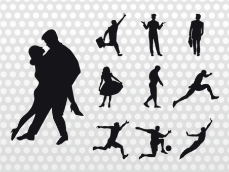 People Silhouettes vector graphics