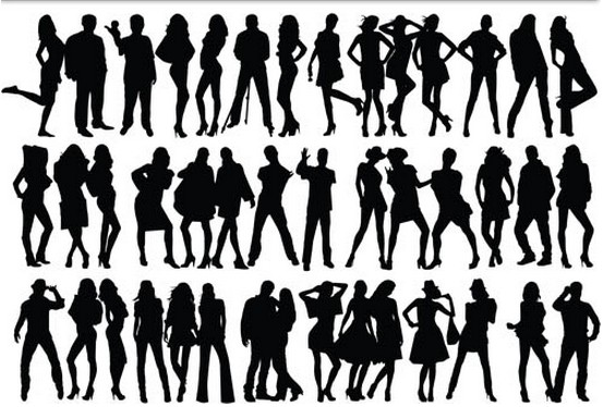 Traveling People Silhouettes Vector Art Graphics: People Silhouettes Free Vector Graphics Free Download