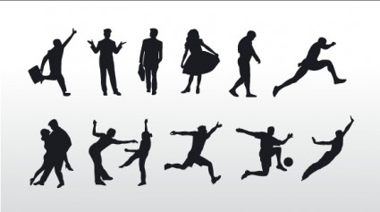 People Silhouettes graphic vector