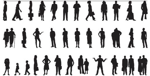 Traveling People Silhouettes Vector Art Graphics: People Graphic Vectors Free Download