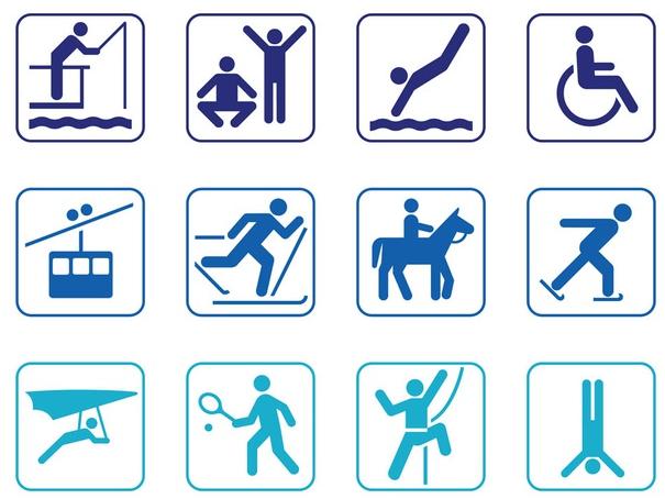 Person Symbol Set vector