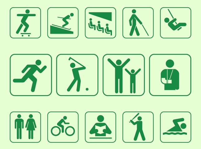 Person Symbols vectors graphics