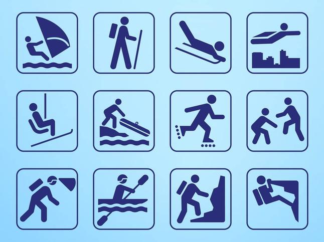 Person Symbols Graphics art design vectors