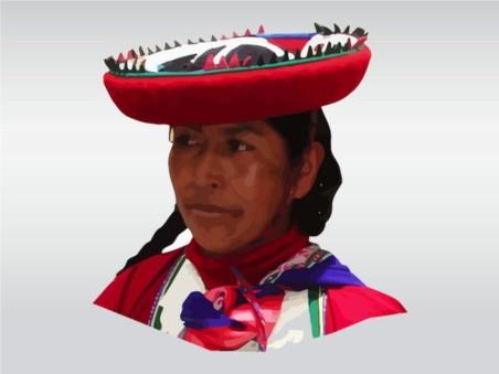 Peruvian Woman vectors material