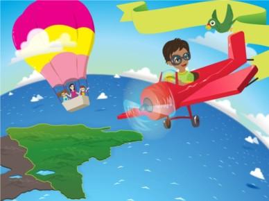 Pilot Boy Illustration vector