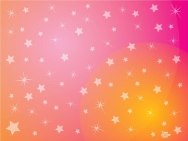 Pink Stars Background vector