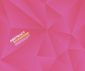 Pink geometric polygon background vector