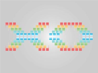 Pixelated Text Art vector material