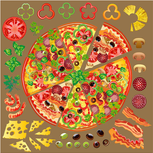 Pizz Backgrounds free design vectors