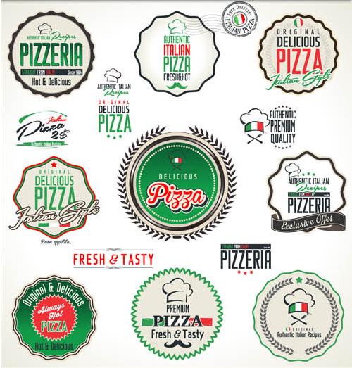 Pizz Labels free vectors material