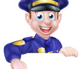 Police cartoon design illustration vector 03