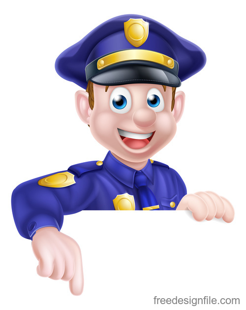 Police cartoon design illustration vector 03