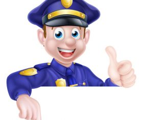 Police cartoon design illustration vector 04