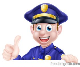 Police cartoon design illustration vector 06