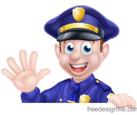 Police cartoon design illustration vector 07