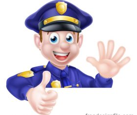 Police cartoon design illustration vector 08