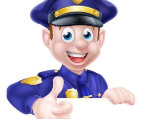 Police cartoon design illustration vector 09