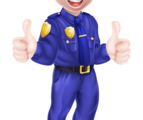 Police cartoon design illustration vector 10