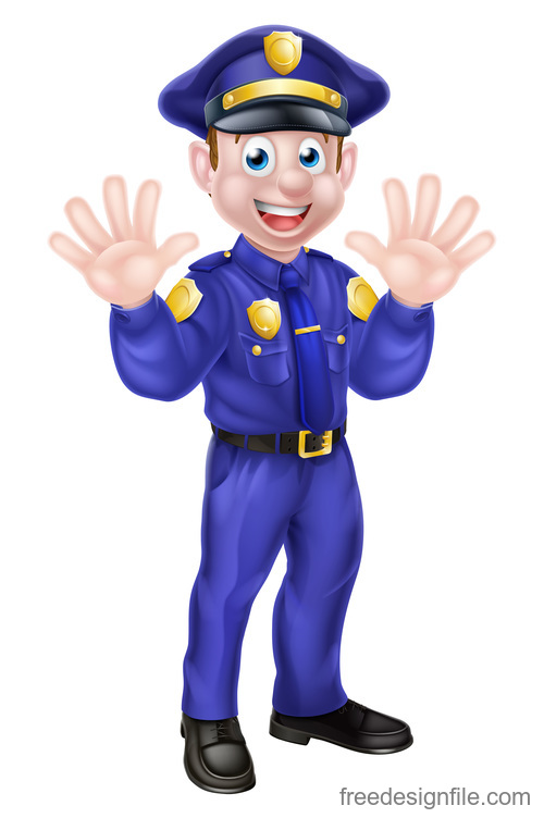 Police cartoon design illustration vector 11