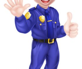 Police cartoon design illustration vector 12