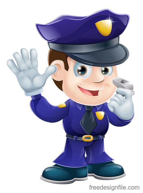Police cartoon design illustration vector 13