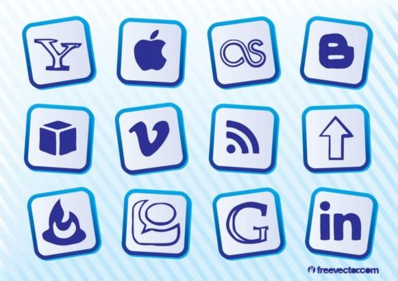 Popular Social MediIcons Illustration vector