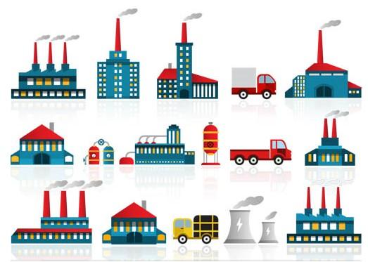 Power Plants Icon sart vector graphics