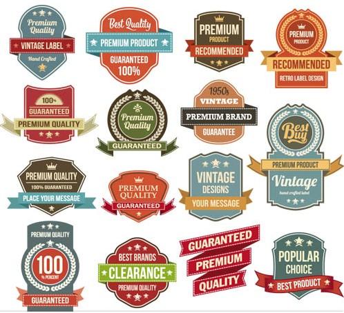 Premium Labels set vector