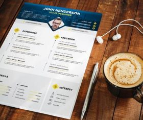 Professional Designer Resume PSD Template