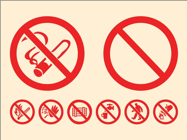 Prohibition Signs Graphics vector