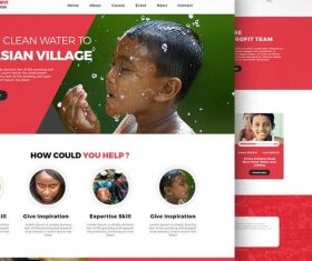 Public Welfare Website PSD Template