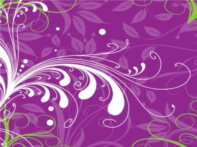 Purple Plants Background vector